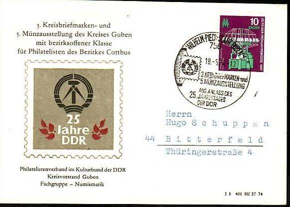 DDR -Sammler-  Beleg-  ( m 6024 ) siehe scan