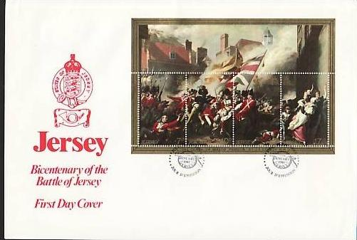 Jersey FDC  Block 2  (bg 579 ) siehe Scan