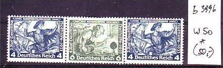 D-Reich Zusammendruck  w50   *  (b3996 ) siehe Bild