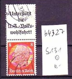 D-reich  Zusammendruck  s131       o   ( b4327  ) siehe Bild