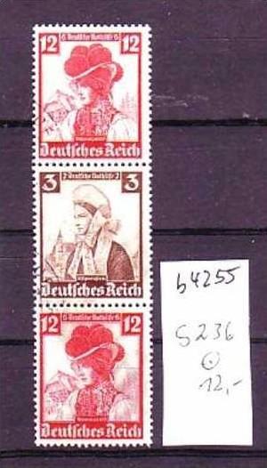 D-Reich Zusammendruck  s236    o  (b4255  ) siehe Bild