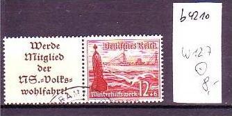 D-Reich Zusammendruck  w127   o  (b4210 ) siehe Bild