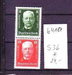 D-Reich Zusammendruck   s36    *   (b4187  ) siehe Bild