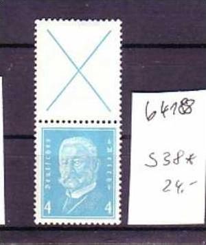 D-Reich Zusammendruck   s38    *   (b4188  ) siehe Bild