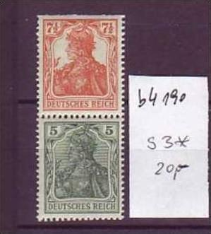 D-Reich Zusammendruck   s3    *   (b4190   ) siehe Bild