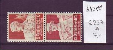 D-Reich Zusammendruck   s227    *   (b4288   ) siehe Bild