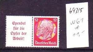 D-Reich Zusammendruck  w61  *   (b4315    ) siehe Bild