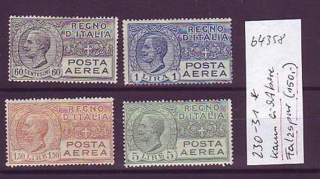 Italien Nr. 230-1  *  (b4358 ) siehe scan
