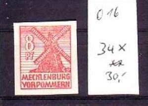 sowjet Zone Nr. 34 X ** (o16 ) siehe Bild