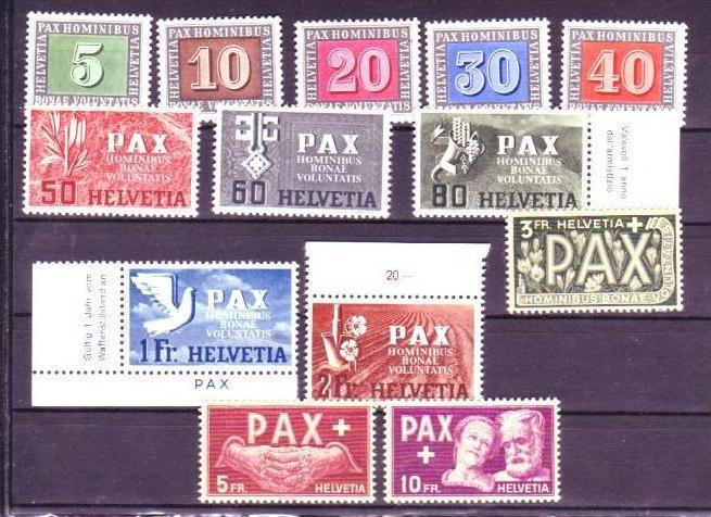 Schweiz  447-59 Pax satz   top  **   ( p1781 )siehe scan