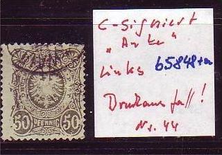 D-Reich Nr. 44 links Druckausfall ?? (b5848 )