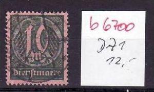 D-Reich Dienst Nr. 71  o  (b6700  ) siehe Bild