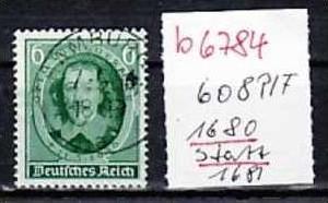 D-Reich Nr. 608 1680 statt 1681   o    ( b6784  ) siehe Bild