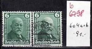 D-Reich Nr. 604 a+b   o    ( b6798  ) siehe Bild