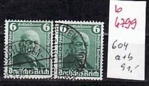 D-Reich Nr. 604 a+b   o    ( b6799  ) siehe Bild