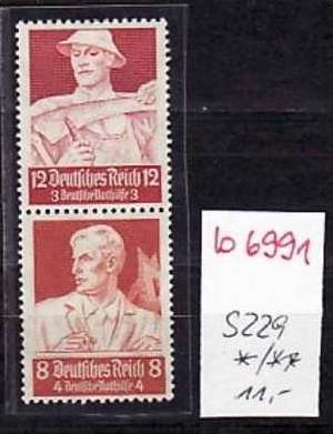 D.-Reich Zusammendruck s229    *  ( b6991 ) siehe scan