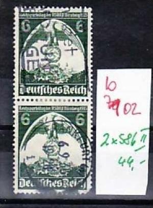 D-Reich  nr. 2x 586 II  o  ( b7102 ) siehe scan