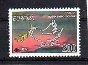 Cept -  Bosnien   ** 1995   ( b 7197 ) siehe scan