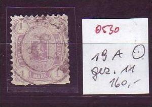 Finnland  Nr.  19 A   o   ( o530 ) siehe Bild