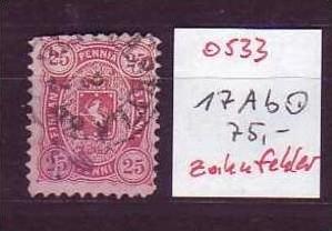 Finnland  Nr.  17 Ab   o   ( o533 ) siehe Bild