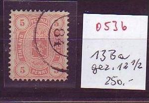 Finnland  Nr.  13 Ba  o   ( o536 ) siehe Bild