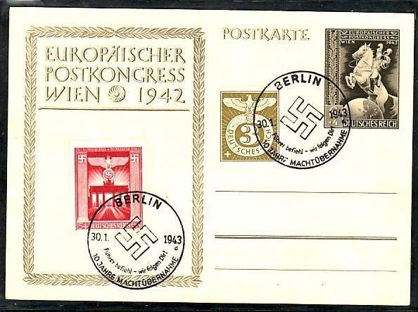 D.-Reich  Karte Propaganda Stempel  ( m8458 ) siehe scan  !!