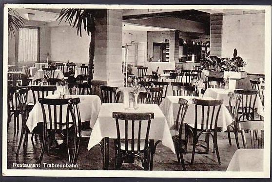 Leipzig Restaurant Trabrennbahn  alte Karte (m8855 ) siehe scan