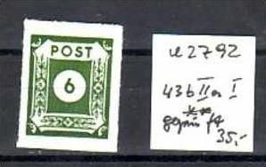 sowjet Zone Nr. 43 BIIaI  ** ( u2792  ) siehe scan