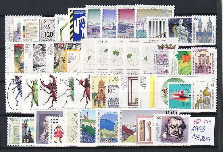 BRD Jahr 1993   **   (t 67  )82,-D-Mark Postpreis....!