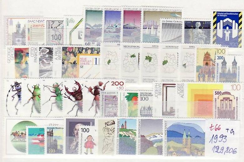 BRD Jahr 1993   **   (t 66  )82,-D-Mark Postpreis....!