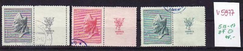 Ceskoslovensko Nr. 515-17 ZF.o    ( v5977 ) siehe scan