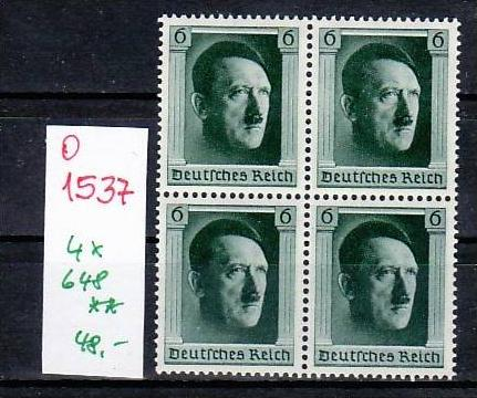 D-Reich Nr. 4x 648   ( o1537 ) siehe scan