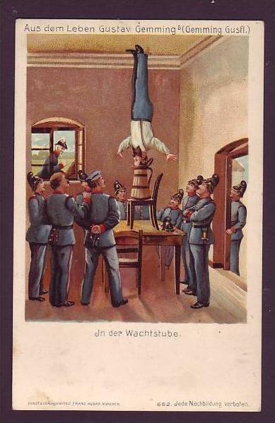 Alte Postkarte Militär -Humor  (da1466 ) siehe scan