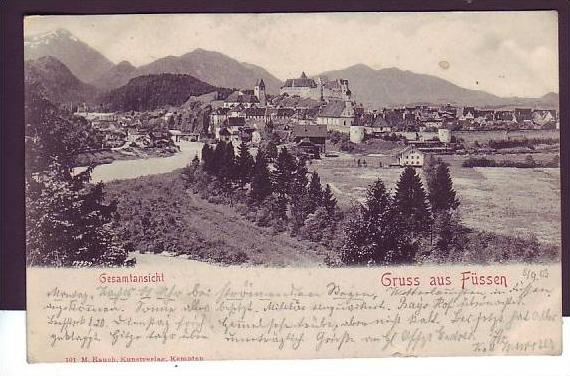 Alte Postkarte  Füssen   (da1473   ) siehe scan