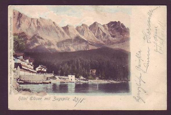 Alte Postkarte  Hotel Eibsee (da1479 ) siehe scan