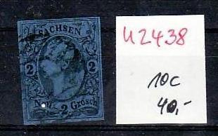 Sachsen Nr.10 c o  ( u2438 ) siehe scan