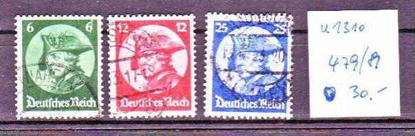 D-Reich  Nr. 479-81   o  ( u1310  ) siehe scan