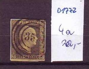 Preussen    Nr. 4a   o    ( o1772  ) siehe scann-vergrößert !!