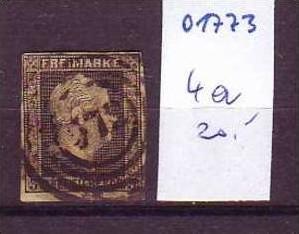 Preussen    Nr. 4a   o    ( o1773  ) siehe scann-vergrößert !!