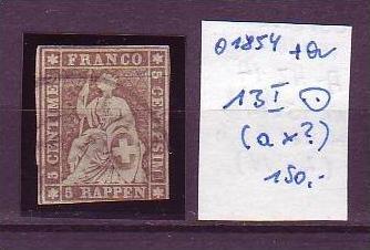 Schweiz Nr. 13 I  o    ( o1854 ) siehe Bild