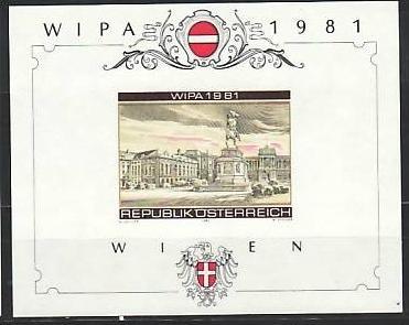 Österreich   Block Wipa Probedruck 1981  ?? **   (z8476 ) siehe scan