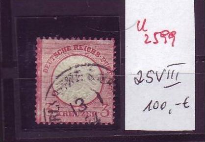 D.-Reich Nr. 25  VIII     o  (u2599 ) siehe scan
