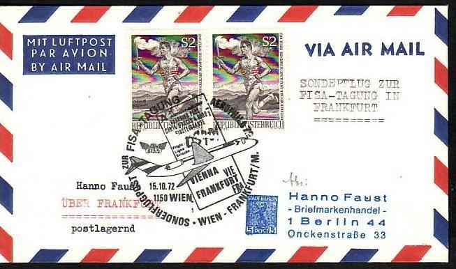 Österreich Flugpost Beleg ( z8690 ) siehe scan