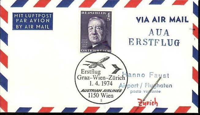 Österreich Flugpost Beleg ( z8694 ) siehe scan
