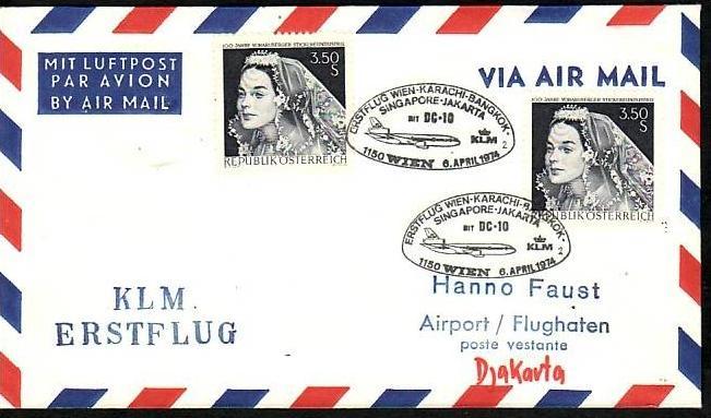 Österreich Flugpost Beleg ( z8695 ) siehe scan
