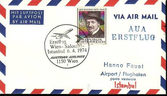 Österreich Flugpost Beleg ( z8697 ) siehe scan