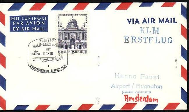 Österreich Flugpost Beleg ( z8696 ) siehe scan