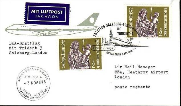 Österreich Flugpost Beleg ( z8700 ) siehe scan