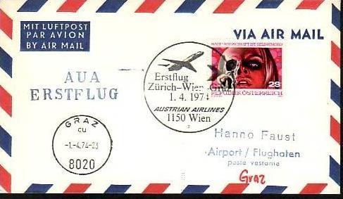 Österreich Flugpost Beleg ( z8716 ) siehe scan