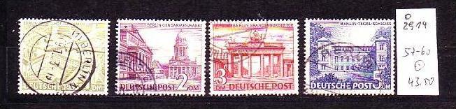 Berlin Nr. 57-60  o  ( o2914 ) siehe scan